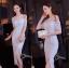 ชุดเดรสเกาหลีพร้อมส่ง Dress ลูกไม้สีขาวงานตัดเย็บอย่างดี thumbnail 9