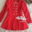 เสื้อผ้าเกาหลี พร้อมส่งเสื้อโค้ทสีแดงแต่งขนเฟอ thumbnail 6