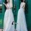 ชุดเดรสเกาหลี พร้อมส่งPearl White 3D Floral Back Show Off Luxury Dress thumbnail 2