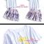 เสื้อผ้าเกาหลี พร้อมส่งเสื้อเนื้อผ้านิ่ม ลายจุดใส่กับกระโปรงปริ้นลายดิจิตอล thumbnail 2