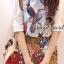 ( พร้อมส่งเสื้อผ้าเกาหลี) Set Little Bird match with Brown Skirt Flower Print by Seoul Scret thumbnail 1