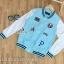 เสื้อผ้าเกาหลี พร้อมส่งเสื้อแจ็คเก็ตเบสบอลแขนยาวสไตล์เกาหลี thumbnail 6