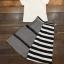 เสื้อผ้าเกาหลี พร้อมส่งZebra Shirt + B&W Line Skirt Set thumbnail 11