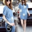 เสื้อผ้าเกาหลี พร้อมส่งเสื้อทรงใหญ่ปล่อยๆ จากผ้า Denim thumbnail 7
