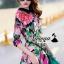 เสื้อผ้าเกาหลี พร้อมส่งFashionista pink flora set thumbnail 4