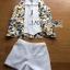 เสื้อผ้าเกาหลี พร้อมส่งเซ็ตเสื้อแขนกุดพิมพ์ลายLemonและกางเกงขาสั้นสีขาว thumbnail 14