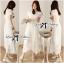 Grace Elegant Cotton Embroidered and Lace Chiffon Maxi Dress thumbnail 2