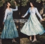 Eva Flower Blossom Printed Baby Blue Maxi Dress thumbnail 6