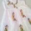 (พร้อมส่ง)เดรสลูกไม้ลุคสาวหวาน งานสวยๆ อารมณ์ประมาณเจ้าหญิงน้อยๆในเทพนิยาย ผ้าลูกไม้ซีทรูตัดต่อผ้าเป็นซับในค่ะ ผ้ามีน้ำหนัก ระบายสวย ตกแต่งเถาว์ดอกไม้ให้มีสีสัน thumbnail 7