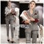 Valentina Sophisticated Chic Black and White Checked Suit Set thumbnail 5
