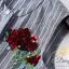 เสื้อผ้าแฟชั่นพร้อมส่ง ชุดเซท เสื้อ+กางเกง เป็นผ้าจอเจียร์สีเทา thumbnail 7