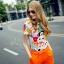 เสื้อผ้าเกาหลี พร้อมส่งน่ารักฝุดๆ กับชุดเข้าเซต เสื้อพิมลายตัวการ์ตูน thumbnail 7