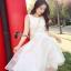ชุดเดรสเกาหลี พร้อมส่งเดรสยาวสีขาวแขนกุด thumbnail 3