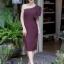 ชุดเดรสเกาหลีพร้อมส่ง Dress เข้ารูป ทรงสวย เรียบ หรู ดูไฮคลาส thumbnail 1