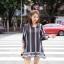 ชุดเดรสเกาหลี พร้อมส่งชุดมินิเดรส ผ้าพิมพ์ลายวินเทจ thumbnail 2