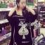 ( พร้อมส่งเสื้อผ้าเกาหลี) เดรสคัทเอาท์ไหล่สกรีนลายสุดชิค ตัวนี้เหมาะกับสาวขี้เล่นออกแนวเปรี้ยว ใส่แล้วดูอินเทรนด์มากๆ ทรงชุดมีลูกเล่นที่ไหล่เป็นแบบคัทเอาท์ เก๋ๆที่สายเเต่งเลื่อม ด้านหน้าสกรีนลายรูปใบโพธิ์ ดูเก๋สุดๆ thumbnail 2