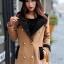 Korean woolen coat collar double-breasted wool coat thumbnail 3