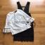 เสื้อผ้าเกาหลีพร้อมส่ง เสื้อผ้าลูกไม้สีขาวทับด้วยเดรสสีดำตกแต่งลูกไม้ thumbnail 7