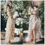 Miranda Country Chic Blossom Ruffle Wrap Dress thumbnail 3