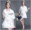 Olivia Elegant Lace Trimmed Mini Coat with Belt thumbnail 2