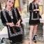 ชุดเดรสเกาหลี พร้อมส่งMini Dress โบฮีเมี่ยนสีดำ thumbnail 8