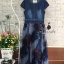 shirt blue denim long maxi dress thumbnail 6