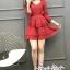 Mini Layered Dress Red Blood&White Classic Lace hem thumbnail 6