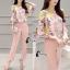 เสื้อผ้าเกาหลี พร้อมส่งเซ็ตเสื้อลายดอกไม้โทนชมพู thumbnail 6