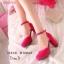 """รองเท้าส้นสูง รัดส้น สไตส์ Korea วัสดุ ทำจาก เนื้อผัากำมะยี่อย่างดี เนื้อนุ่มสุดๆ ติดอไหล่ะเพชรที่สายรัดข้อเท้า"""" thumbnail 1"""