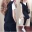 เสื้อผ้าเกาหลีพร้อมส่ง ชุดวอร์มผู้หญิง Sport Set 3 ชิ้น แนวสบายๆ thumbnail 4