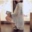 เสื้อผ้าแฟชั่นเกาหลี พร้อมส่ง งานเสื้อคลุมลูกไม้อย่างดี ดีเทลเก๋ แต่งขอบเสื้อด้วยผ้าซาติน thumbnail 4