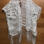 Cadie Pearl Flower Embroidered Fringed Lace Tunic thumbnail 8