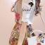 ( พร้อมส่งเสื้อผ้าเกาหลี) Set Little Bird match with Brown Skirt Flower Print by Seoul Scret thumbnail 2