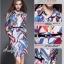 ชุดเดรสเกาหลี พร้อมส่ง เดรสพิมลายเล่นสีสันสวยมากๆ thumbnail 8