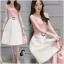 เสื้อผ้าเกาหลี พร้อมส่งDestiny Pastel Pink Top + Pearl Skirt thumbnail 3