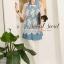( พร้อมส่งเสื้อผ้าเกาหลี) Set Cami-Shirt Blue Denim Dress with Lace Blouse Outer thumbnail 5
