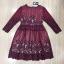 ชุดเดรสเกาหลี พร้อมส่งRed Wine Lace Luxury Dress thumbnail 8