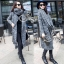 Winter Big Shawl Collar Long Knit Coat thumbnail 3