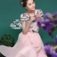 เสื้อผ้าเกาหลี พร้อมส่ง แมตช์เซ้ทลุคสาวหวาน เสื้อทรงคอมกลมพิมพ์ลายสวย เนื้อผ้า silk thumbnail 2