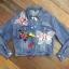 เสื้อผ้าเกาหลี พร้อมส่ง3D Butterfly Denim Jacket thumbnail 10
