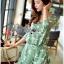เสื้อผ้าเกาหลี พร้อมส่งเพลย์สูทสีเขียวมิ้นท์พิมพ์ลายดอกเดซี่สไตล์เฟมินีน thumbnail 7