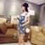 เสื้อผ้าเกาหลี พร้อมส่งเอี้ยมยีนส์ ลุคเปรี้ยวๆ เซอร์นิดๆ thumbnail 8