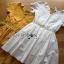 ชุดเดรสเกาหลี พร้อมส่งมินิเดรสผ้าคอตตอนตกแต่งผ้าลูกไม้สไตล์แบรนด์โคลเอ้ thumbnail 11