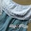 ( พร้อมส่งเสื้อผ้าเกาหลี) เสื้อเปิดไหล่ผ้าลูกไม้ตัดต่อผ้าเดนิมสุดหวาน ตัวนี้เหมาะกับสาวลุคคุณหนูไฮโซหวานๆ ดีเทลเก๋มากที่ช่วงไหล่ถึงอกเป็นผ้าลูกไม้คอตตอนฉลุลายสวยมากๆ มีสองชั้นเป็นเลเยอร์ ตรงคอเสื้อจะเป็นยางยืดนะคะเพื่อจะเปิดไหล่ก็ไดหรือไม่เปิดก็ได้ค่ะ thumbnail 8