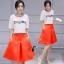 เสื้อผ้าเกาหลี พร้อมส่งCoCo Shirt + Skirt Pant Set thumbnail 7