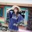 ( พร้อมส่ง) เสื้อตัวยาวทรงค้างคาวปักลายใบไม้เกาหลี หวานเบาๆด้วยดีเทลผูกโบว์ช่วง อก ลุควินเทลเก๋ๆ ทรงใส่ง่าย ชิลๆน่ารักมากค่าาา thumbnail 1