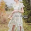 Leandra Magic Garden Ruffle Printed Chiffon Dress thumbnail 2