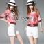 เสื้อผ้าเกาหลี พร้อมส่งแจ๊กเก็ตสีชมพูพิมพ์ลายสไตล์สปอร์ตแบบกุชชี่ thumbnail 4