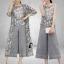 เสื้อผ้าเกาหลี พร้อมส่งMacy Grey - Set เสื้อ+กางเกง+เสื้อคลุม thumbnail 7