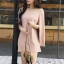 Minidress Light Pink Long Sleeve Chic Chic Dress thumbnail 2